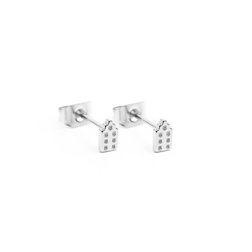 The Jordaan Studs Silver plated
