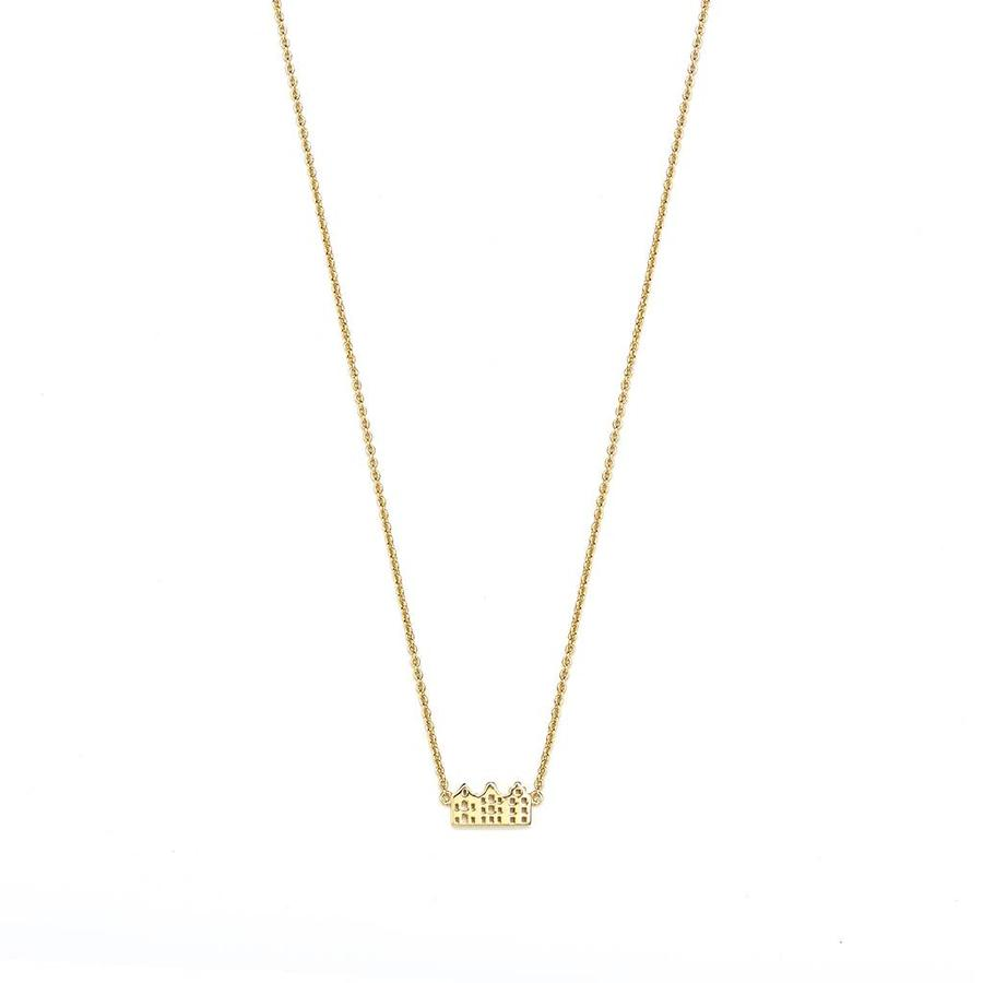 Canal Necklace Gold Plated-1