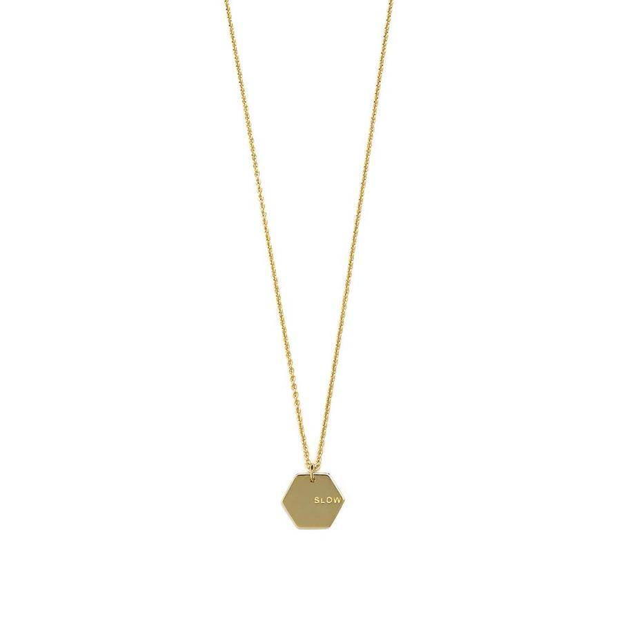 Slow Necklace Gold-1