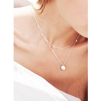 thumb-Slow Necklace Silver-2