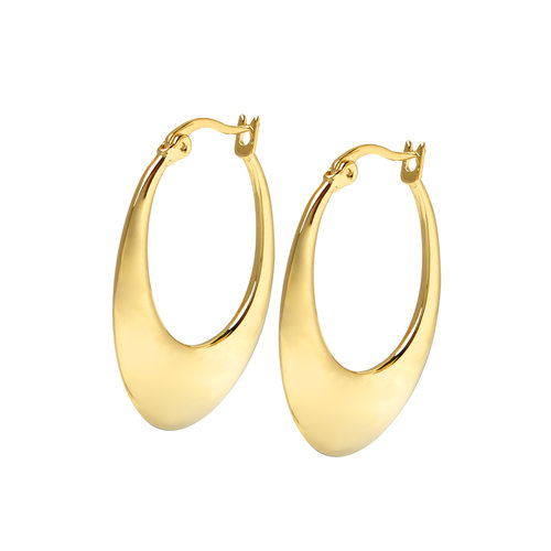 Infinity Hoops Gold Plated