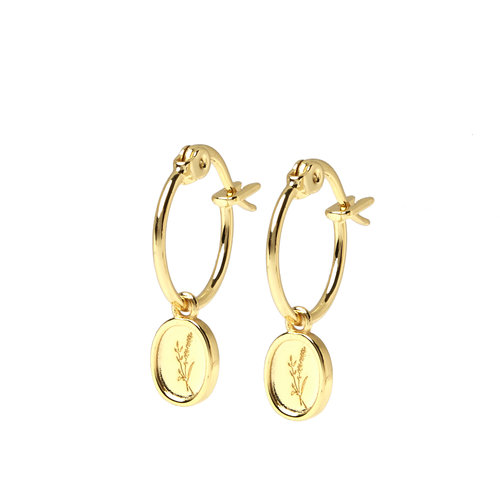 Sage Hoops Gold Plated