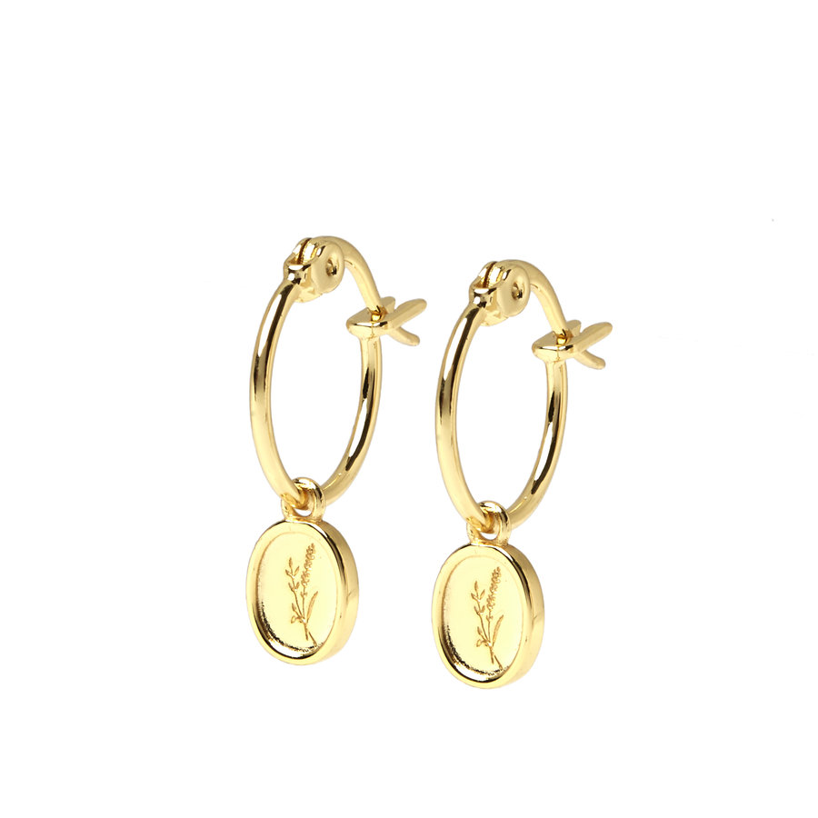 Sage Hoops Gold Plated-1