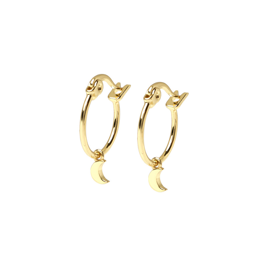 Eclipse Hoops Gold Plated-1