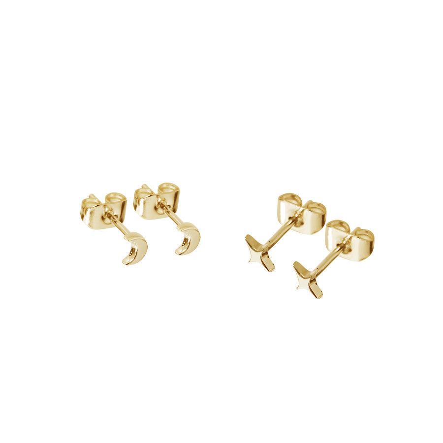 Glimmer Studs Gold Plated-1