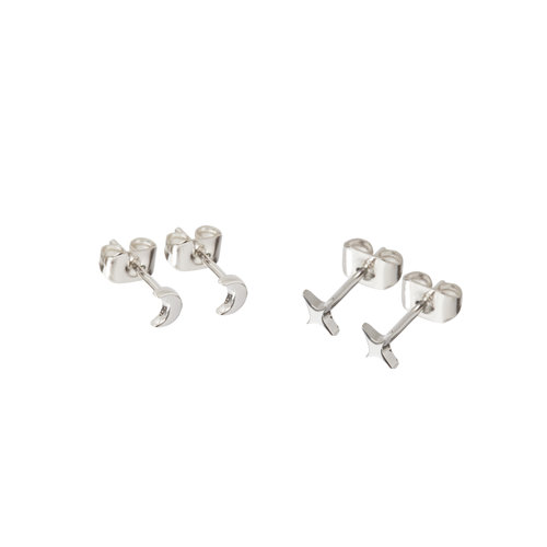 Glimmer Studs Silver Plated
