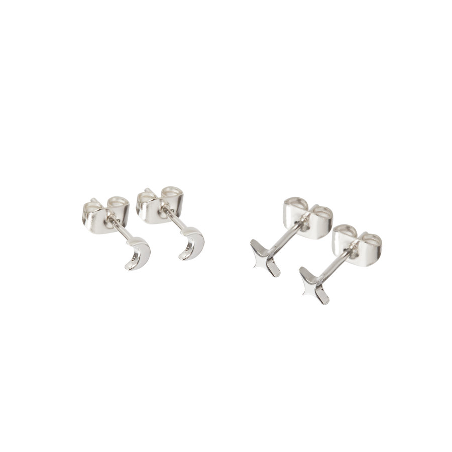 Glimmer Studs Silver Plated-1