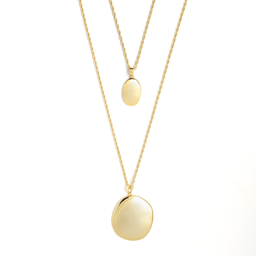 Connect Necklace Gold Plated-1
