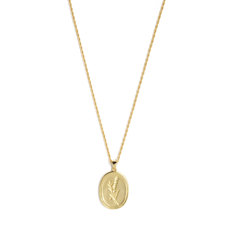 Bloom Necklace Gold Plated-1
