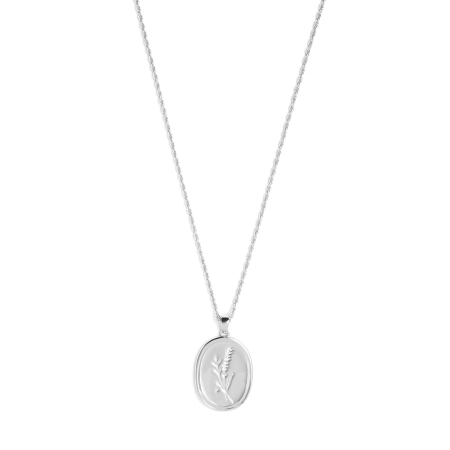 Bloom Necklace Silver Plated-1