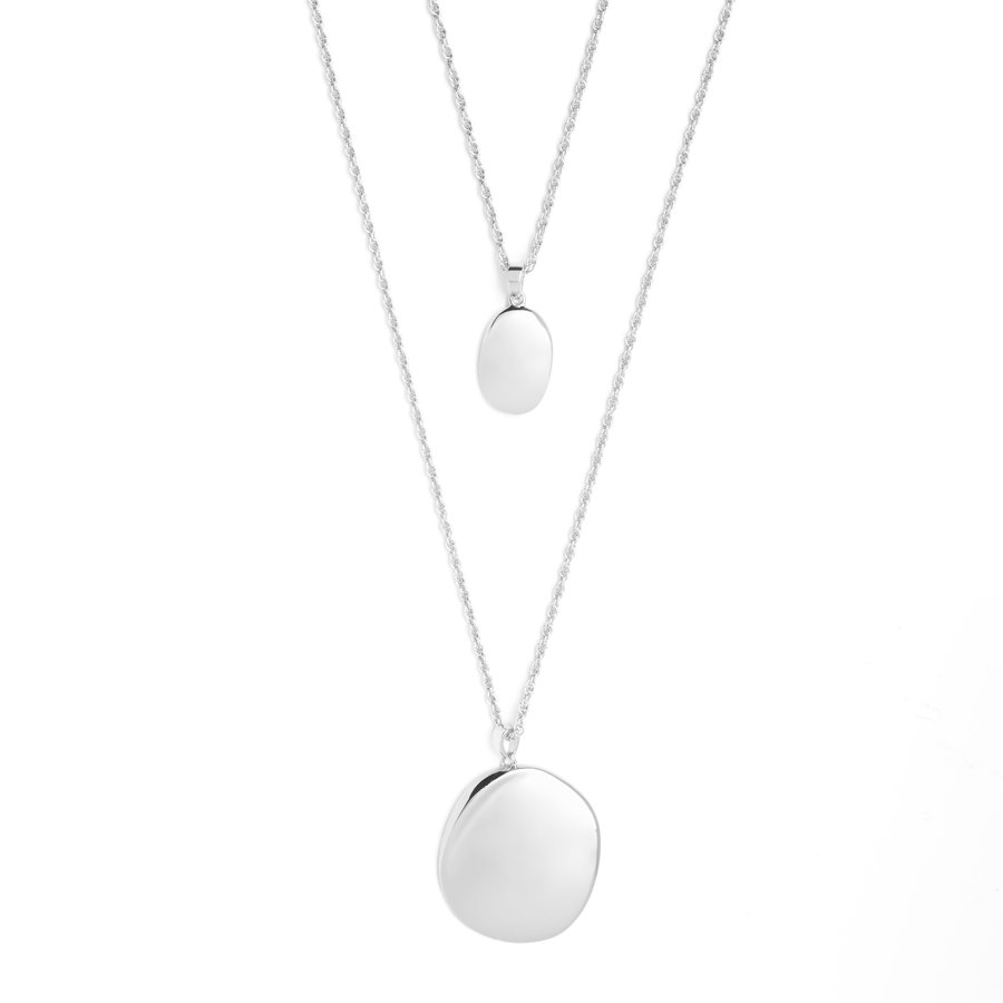 Connect Necklace Silver Plated-1