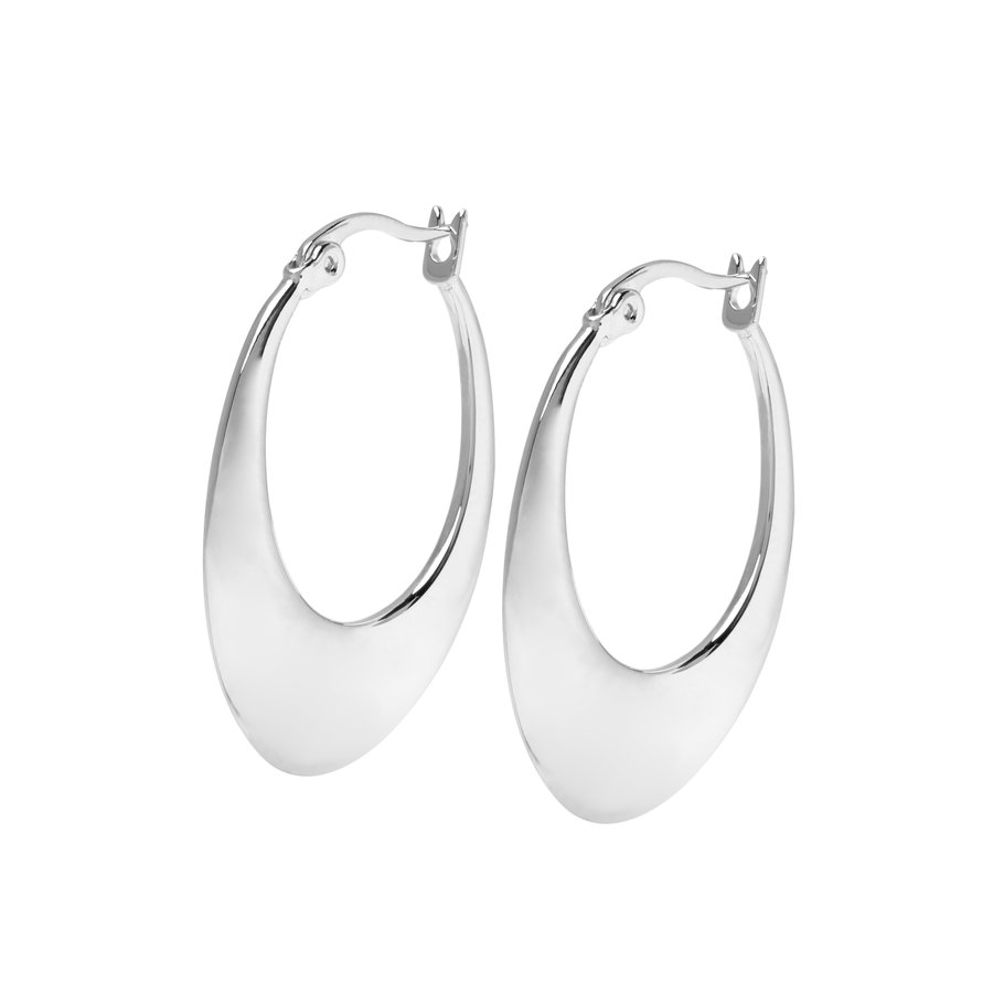 Infinity Hoops Silver Plated-1