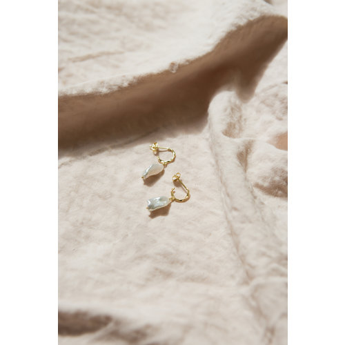 Perle Hoops Goldplated