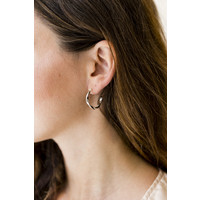 thumb-Helix Hoops Silverplated - Small/Large-2