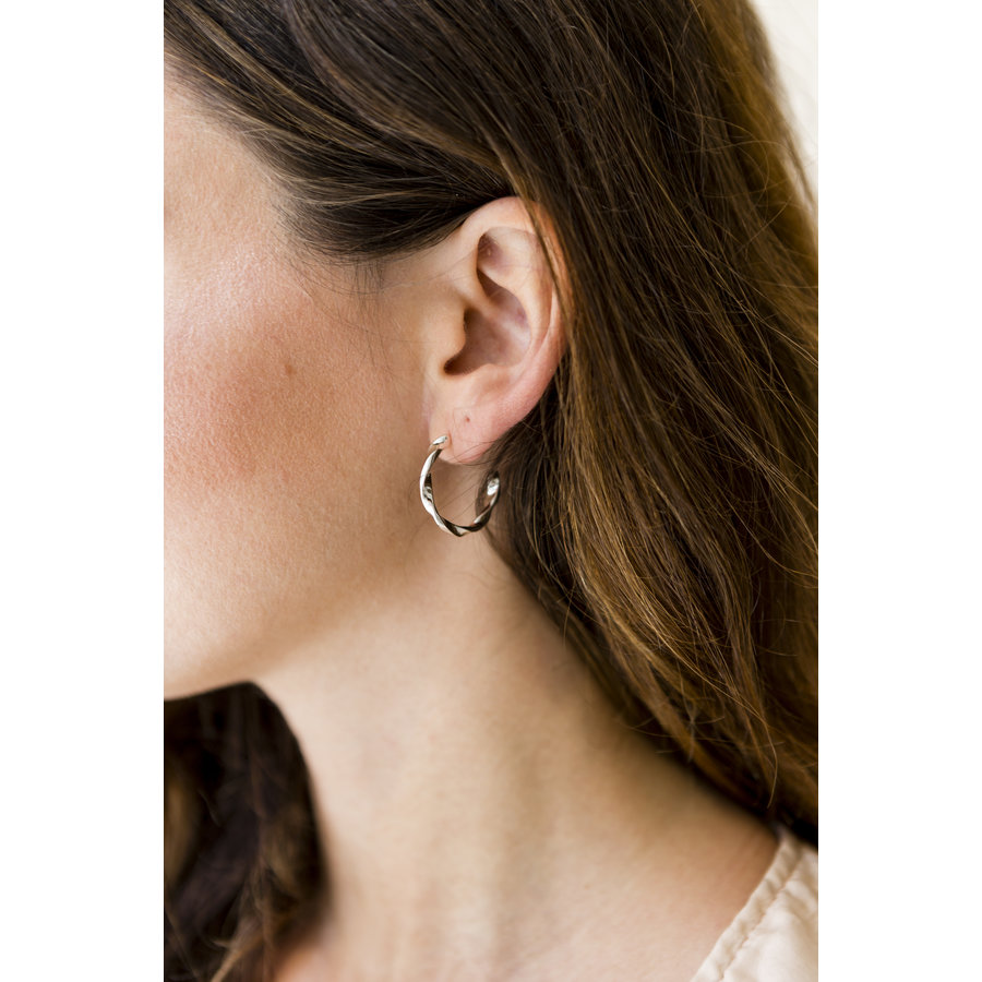 Helix Hoops Silverplated - Small/Large-2