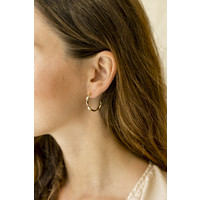 thumb-Helix Hoops Goldplated - Small/Large-2