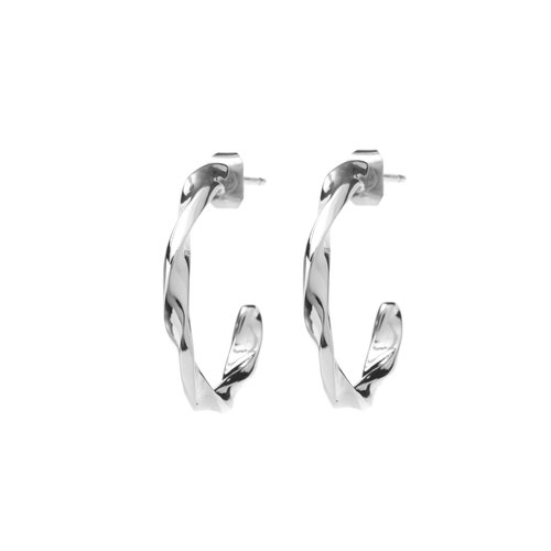 Helix Hoops Silverplated - Small/Large