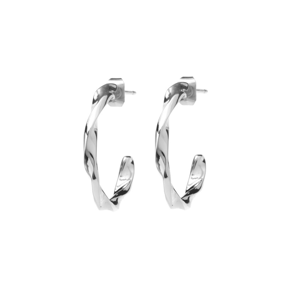 Helix Hoops Silverplated-1