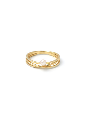Gem Ring Gold plated