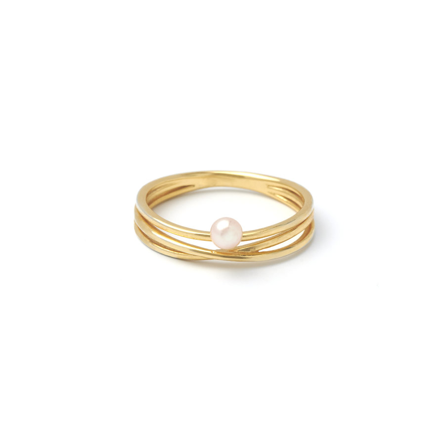 Gem Ring Gold plated-1