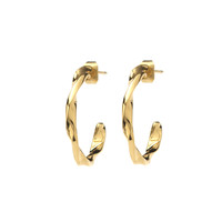 thumb-Helix Hoops Goldplated - Small/Large-1