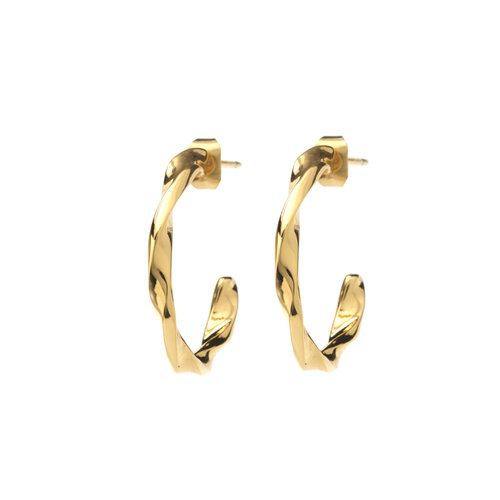 Helix Hoops Goldplated - Small/Large