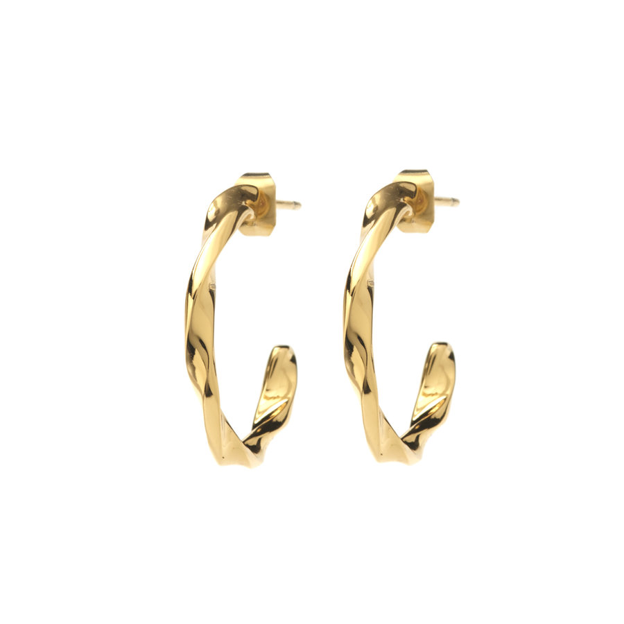 Helix Hoops Goldplated - Small/Large-1