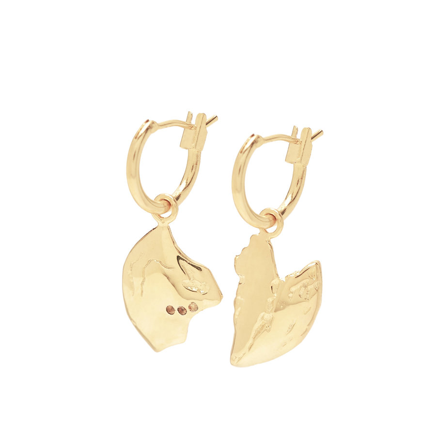 Reflect Hoops Gold Plated-1
