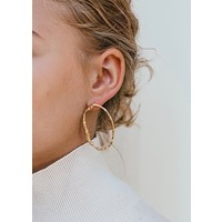 thumb-Muse Earrings Gold Plated-2