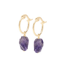 thumb-Violet Hoops Gold Plated-1