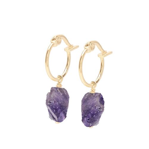Violet Hoops Gold Plated