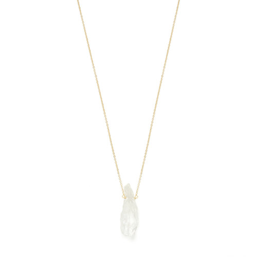 Clear Necklace Gold Plated