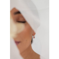 thumb-Rose Hoops Gold Plated-2