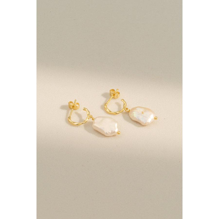 Perle Hoops Goldplated-2