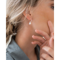 thumb-Charm Hoops Silver Plated-2