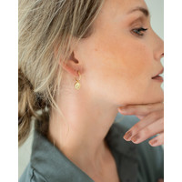 thumb-Charm Hoops Gold Plated-2