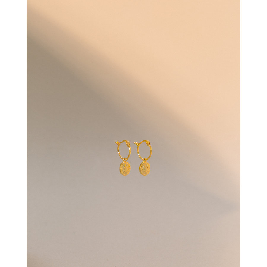 Charm Hoops Gold Plated-3