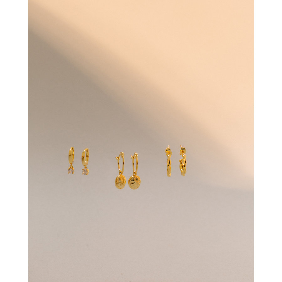 Charm Hoops Gold Plated-4