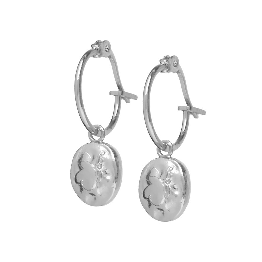 Charm Hoops Silver Plated-1