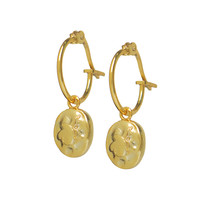 thumb-Charm Hoops Gold Plated-1