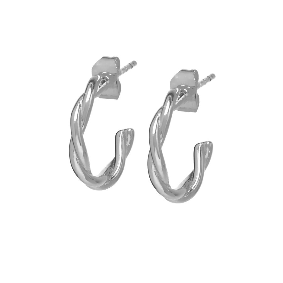 Allay Hoops Silver Plated-1