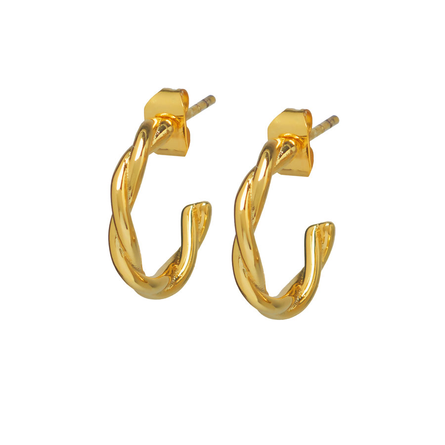 Allay Hoops Gold Plated-1