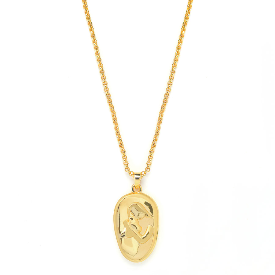 Cherish Necklace Gold Plated-2