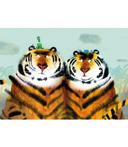Fotobehang Two Tigers