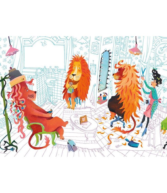 Wall Mural for kids Lion's Haircut, 389.6 x 280 cm