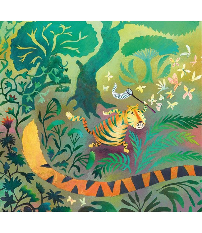 Wall Mural for kids Hunting Tiger, 292.2 x 280 cm