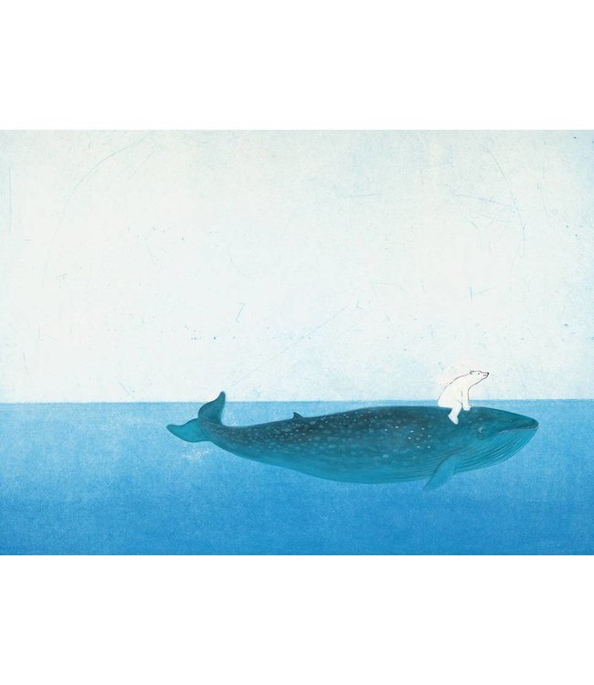 Wall Mural for kids Riding The Whale, 389.6 x 280 cm