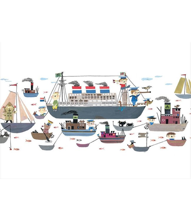 Wall Mural for kids Holland America Line, 389.6 x 280 cm