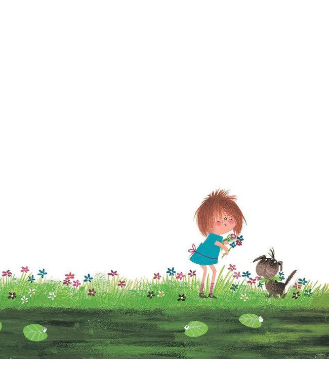 Wall Mural for kids Picking Flowers, 292.2 x 280 cm
