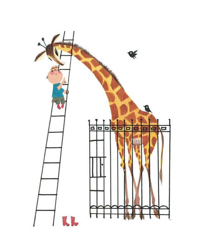 Wall Mural for kids Giant Giraffe, 243.5 x 280 cm